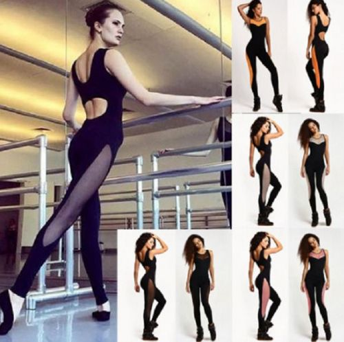 New Women Playsuit Bodycon Bodysuit Gym Yoga Dance Sports Jumpsuit
